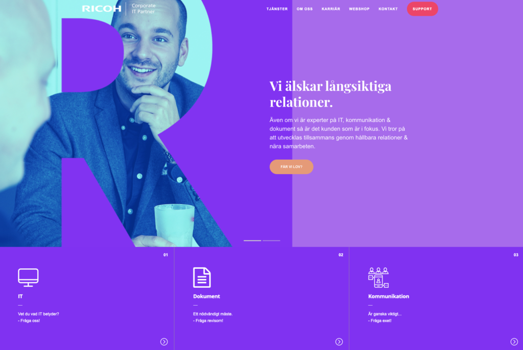 Lanserar ny hemsida & grafisk profil